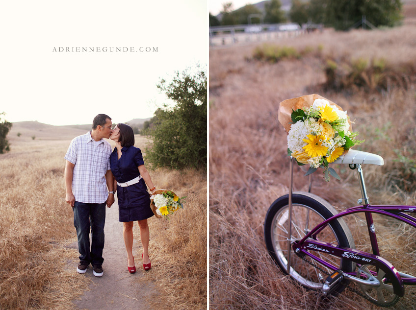 bicycle engagement photo