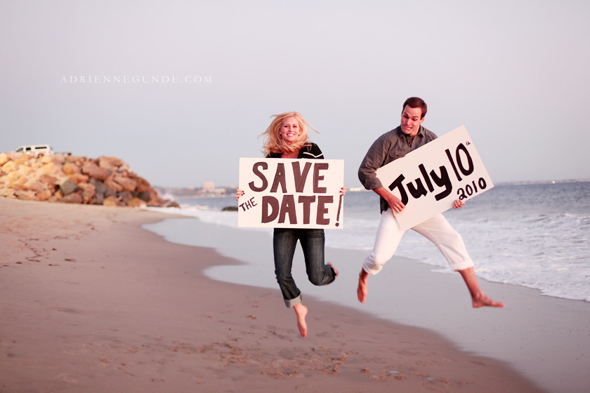 save the date posters engagement session