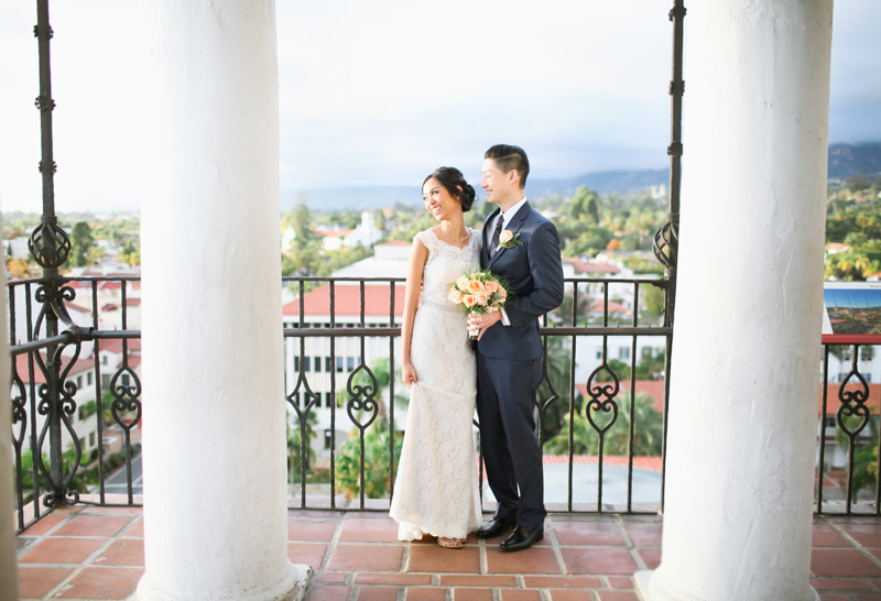 Li Ann James Santa Barbara Courthouse Wedding